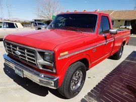 #64: 1985 Ford F150 Single Cab Long Bed Interior is in great shape, power windows. Manual trans. Tires have plenty of tread. Manual transmission, odo reads 92,633  DMV fees: $15 transfer and $70 doc fees