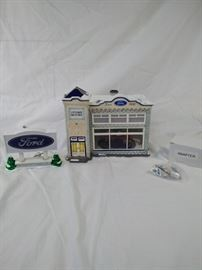 Ford Dealership Department 56 snow village