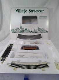 Village streetcar Department 56 snow village