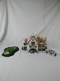 Department 56 snow village Country club and putting green