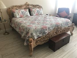 Sleep Number mattress and base is being offered for sale separately from the beautiful King Size bed also being offered.