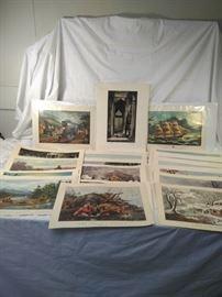 various vintage prints