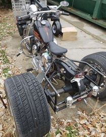 Custom Harley Davidson chopper motorcycle trike