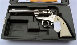 Lot #35. Ruger .357 Magnum New Vaquero Stainless Steel Revolver, Model #05130, Appears Unfired in Original Box