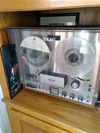 TEAC A-1500-W Automatic Reverse Reel-To-Reel Recorder Specifications Track system: 4/2-track, 2-channel, stereo/monaural system Heads: 1 x record, 2 x playback, 1 x erase Motor: 1 x capstan, 2 x reel Reel size: up to 7 inch reel Tape speeds: 3 3⁄4  7 1⁄2 ips Wow and flutter: 0.12% (7 1⁄2 ips) Frequency response: 30Hz to 20kHz (7 1⁄2 ips) Signal to Noise Ratio: 50dB Crosstalk: 50dB Input: 100mV (line), 1mV (mic) Output: 1.0V (line) Weight: 42lbs Year: 1966