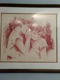 """""""Secret"""" by Alamaru Original Lithograph, Signed Artist Proof.Reg No 17062"""