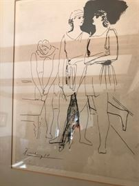 "Picasso Lithograph ""Ballet at the Paris Opera """