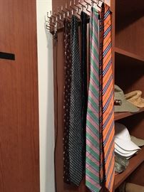 Ties by Paul Stuart, Burberry, Brooks Brothers, Lauren