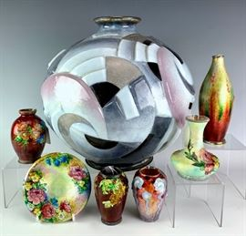Amazing collection of Camille Faure enamels