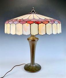Sgd Handel Leaded Glass Table Lamp C. 1920's