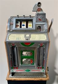 Mills 5 Cent Art Deco Slot Machine C. 1920's