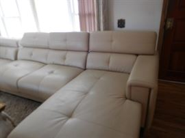 part  of  leather  sectional  sofa