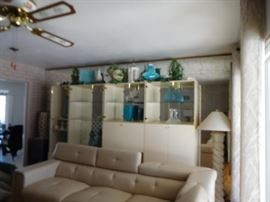 floor  lamp,  lighted laminate display pieces