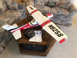 Remote control model airplane