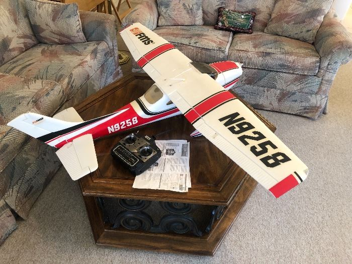 Remote control model airplane