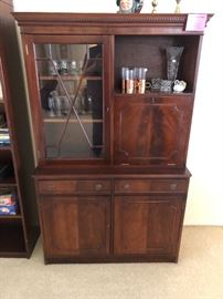 Antique Mahogany made in Ireland bar cabinet
