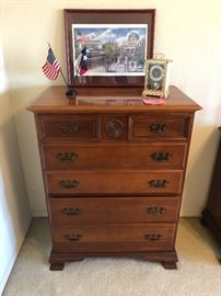 Nice mahogany chest with matching dresser with mirror