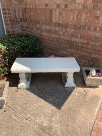 2 concrete benches