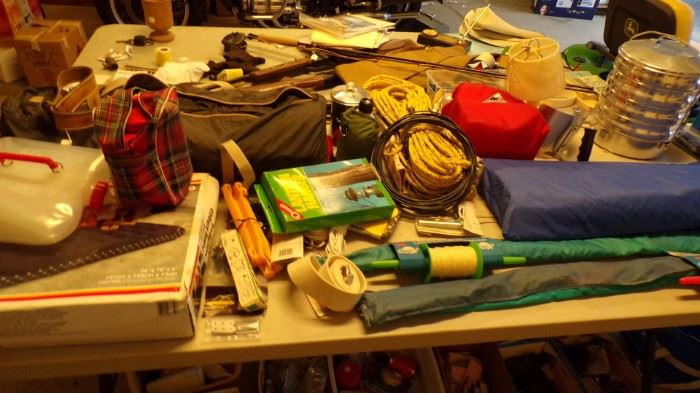 misc. items and the brown and blue cases are Tents,
