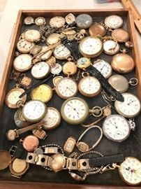 Antique pocket watch collection