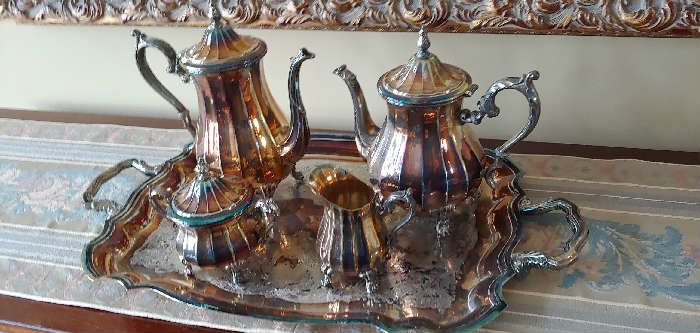 Rogers silverplate tea set