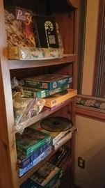 Lots of Bookshelves, and lots of board games and puzzles too!