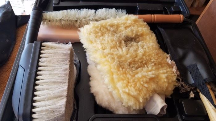 Brush, Dust and Cleaning supplies with case