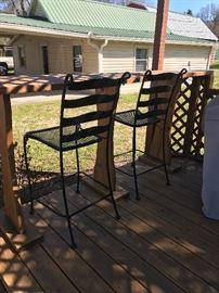 Nice wrought iron bar stools