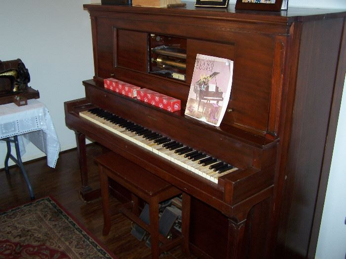 Player piano, pump and electric