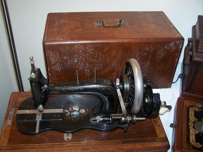 antique sewing machine - 1800's