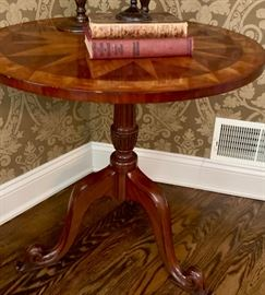 """11. Marquetry Accent Table (27"""" x 27"""")"""