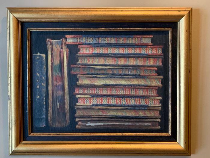 "38. Oil on Canvas Rainbow Journals (24"" x 19"")"