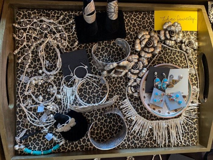 Thai silver jewelry (.960-.999 silver content,) all 50% off!