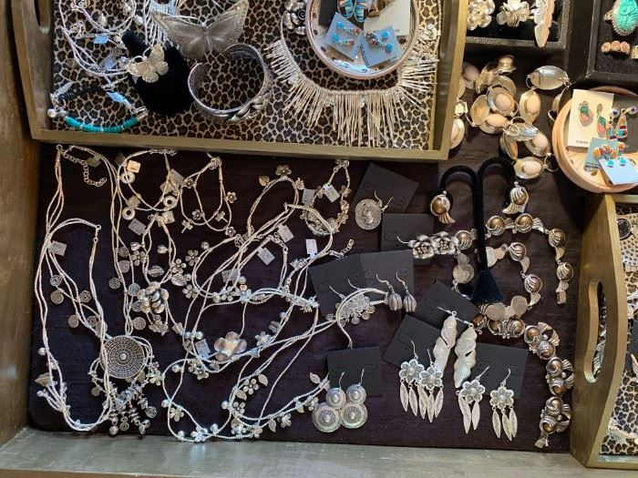 Thai silver jewelry (.960-.999 silver content) and some sterling silver Native American jewelry pieces, all 50% off!