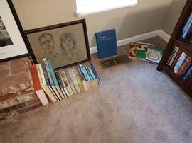 TV Room:  Books