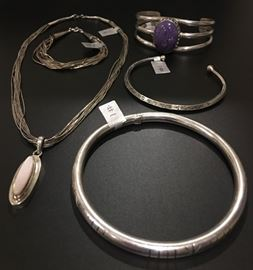 Liquid silver necklace and bracelet - SOLD Native American jewelry in sterling silver, a mix of vintage and newer. 50% off original prices!