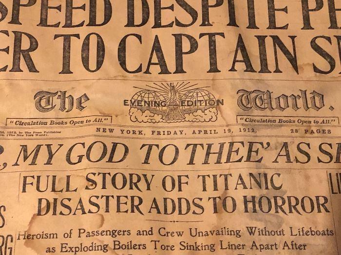 News of The Titanic Sinking  NY Newspaper Headlines