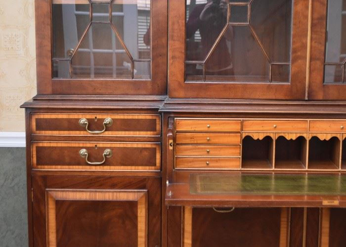 Stunning Traditional Display Cabinet with Secretary