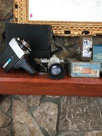 Vintage cameras & video cameras