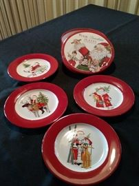 4 Porcelain Christmas Plates