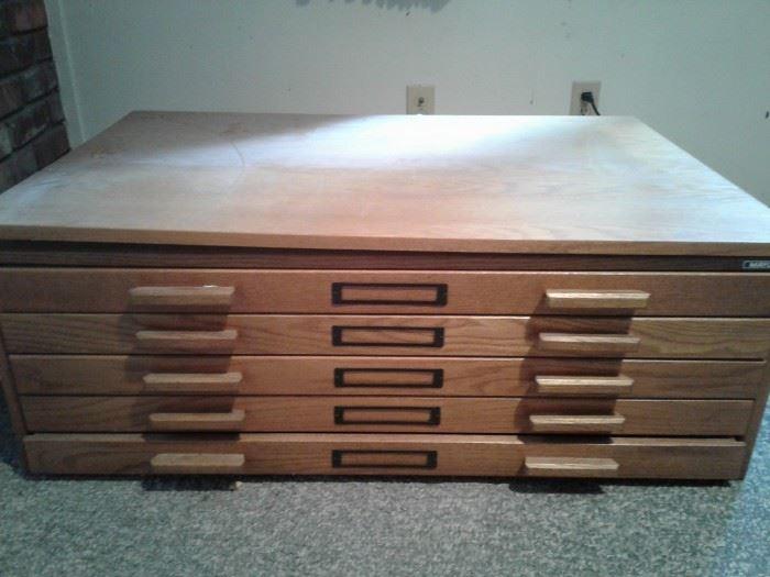 5 Drawer Flat File Cabinet