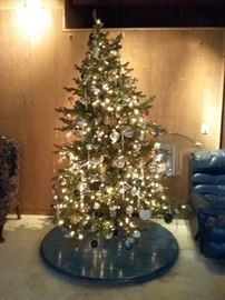 8 Foot Artificial Christmas Tree Fully Decorated