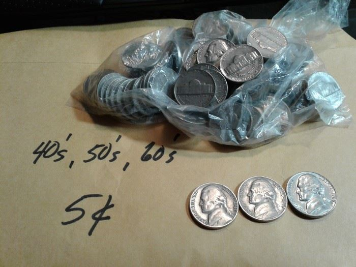 40s, 50s and 60s Nickels
