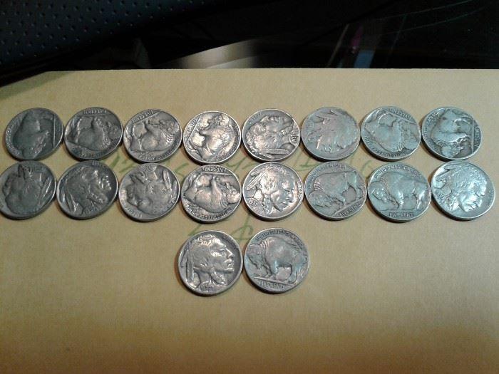 1930s Buffalo Nickels