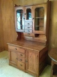 Antique Vintage Dining Room Hutch