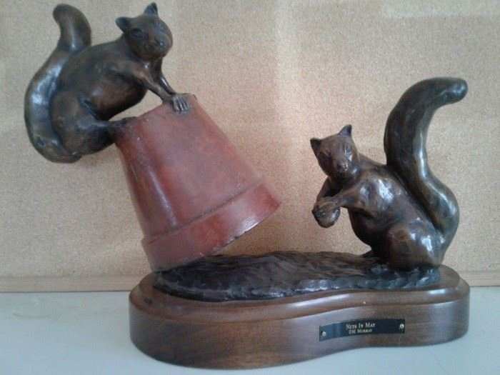 Bronze Squirrel Sculpture