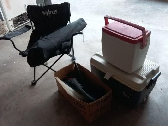 Chairs, Coolers, and Snorkel Items