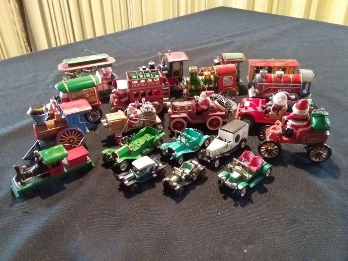 Christmas Trains and Cars