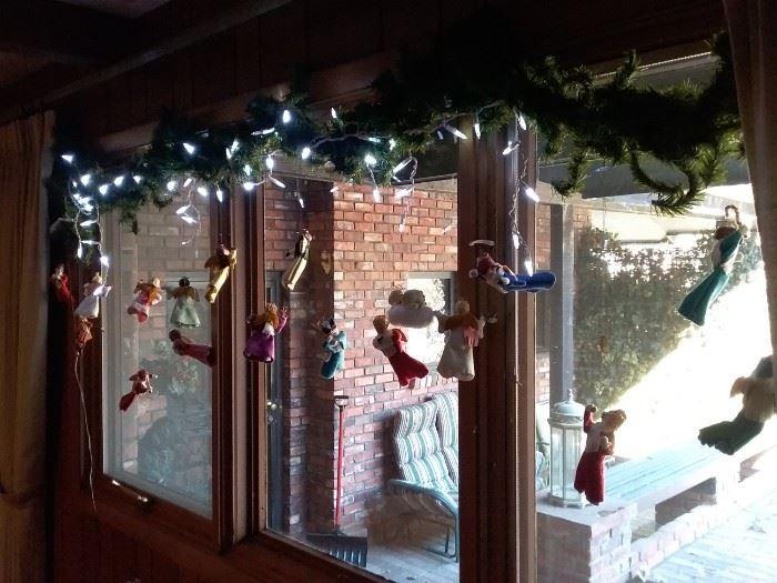 Decorated Window Garland