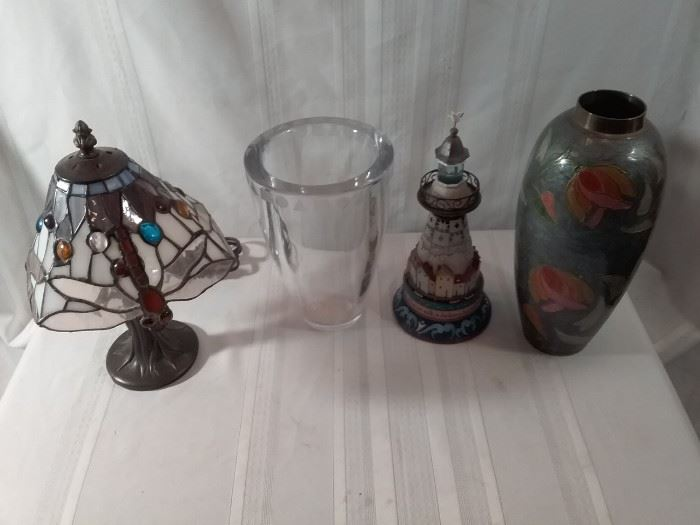 Decorative Lamp, Vases, and More